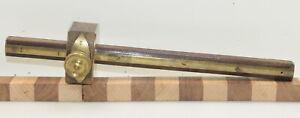 "Vintage 12"" Brass Appointed Double Ended Marking Gauge (INV L006)"