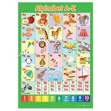 A3 Alphabet ABC's A-Z Poster English Wall Chart