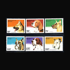 Benin Never Hinged 1995 Dogs Benin 675-680 Unmounted Mint