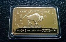 Lot of 10- 1 OZ 100 MILLLS .999 Fine Gold Buffalo Bar Fine Bullion CHRISTMAS!!!