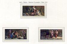 37508) Malte 1977 MNH Christmas 3v