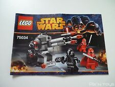 LEGO Notice Instruction / 75034 Star Wars Death Star Troopers