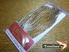 WHITING FARMS DARK BARRED GINGER WOOLLY BUGGER PACK HACKLE NEW FLY TYING FEATHER