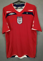 MEN'S UMBRO ENGLAND NATIONAL 2008/2010 AWAY SOCCER FOOTBALL SHIRT JERSEY SIZE M