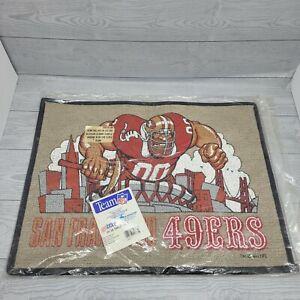 "Rare NEW SEALED Vintage 1991 San Francisco 49ers Man Cave Rug/Mat 24"""