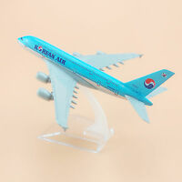 Airplane Model Plane Korean Air Airlines Airbus 380 A380 Aircraft Model 16cm Hot