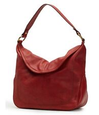 Frye DB070 Campus Leather Rivet Hobo (Burnt Red)