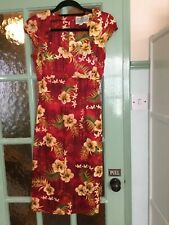 Collective wiggle dress size 8 red/ yellow print.ex display ( slight water mark)