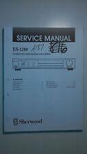 sherwood es-1280 service manual original repair book stereo amp amplifier