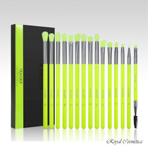 Docolor NEON Professional High Quality Eye Makeup Brushes - 15pc Set