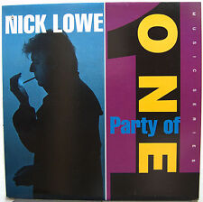 NICK LOWE Party Of One 1990 US ORG LP Dave Edmunds RY COODER Paul Carrack MINTY!