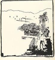 EVA-MARIA VIEBEG - PALMENGARTEN - Lithografie 1981
