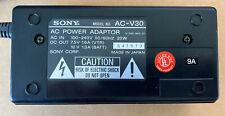 Genuine OEM Original Sony AC-V30 AC Power Adaptor Battery Charger VTR Adapter