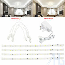 4 x 30cm Plug In LED Under Kitchen Cupboard Cabinet Link Strip Lights Lighting