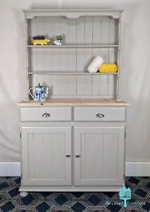 Shabby Chic Pine Welsh Dresser Kitchen Sideboard - Painted - Hardwick White