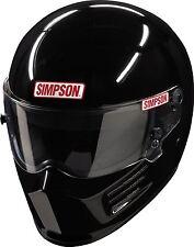 SIMPSON BANDIT HELMET SNELL SA2015 GLOSS BLACK L LARGE 60cm 7 1/2 fia MSA HANS