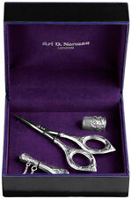 VICTORIAN STYLE THREE PIECE SEWING SET 925 SILVER HALLMARKED FROM ARI D NORMAN