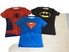 Boys Superhero Under Armour Skin, Base Layer T Shirt YXL Age 13 - 14 Approx
