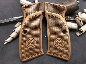 CZ 75 Turkish Walnut Checkered Grips. Hand Made. AAA Quality