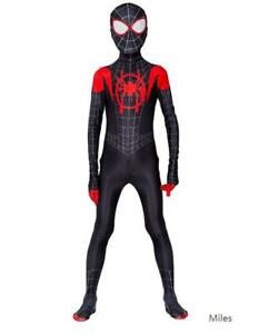 Superhero Spiderman Cosplay Costume Bodysuit Jumpsuit For Kids Holiday Party