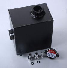 Universal 2.5L Aluminum Radiator Alloy Overflow Water Tank Bottle BLACK