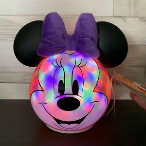 Asda George  - Halloween Light Up Disney Minnie Mouse Pumpkin - Brand New