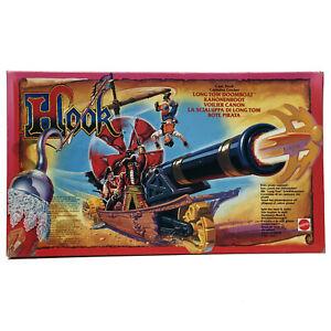 Mattel Hook bote pirata Long Tom Doomboat. Vintage. Nuevo