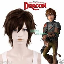 How to Train Your Dragon Hiccup Dark Brown Short Cosplay Wig Hair NEW