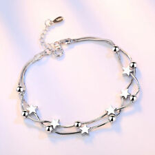 Beads And Stars Love Bracelet 925 Sterling Silver Womens Girls Jewellery Gift UK