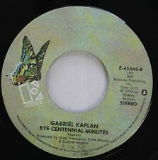 Novelty Comedy 45 Gabriel Kaplan - Bye Centennial Minutes / Up Your Nose On Elek