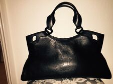 Cartier Marcello /First Design Black Leather Bag  / L Size