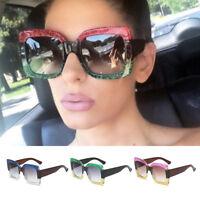 Fashion Oversize Sun Glasses Sunglasses Women Anti UV Square Frame Summer Party