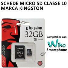 SCHEDA MEMORIA MICRO SD SDHA MEMORY KINGSTON 32GB CLASSE 10 PER WIKO JERRY 2
