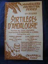 Partitura Hechizos andalucía 1959 Music Sheet Canfora Mariano