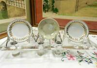 """3 PC ANTIQUE JOHNSON BROTHERS & Z.S. CO. 3 1/8"""" BUTTER PATS"""