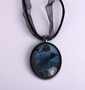 Raven Pendant Necklace 'Watch Men' Design by Lisa Parker