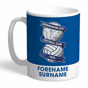 PERSONALISED Birmingham City FC Gifts - Bold Crest Mug - Official