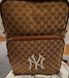 GUCCI NY SUPREME BAG  Backpack Yankees Patch Rare In Hand Free Shipping