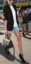 ICEBERG 275$ blue free bleached people short mini denim jean tight skirt S 8 40