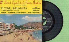 VICTOR BALAGUER / Festival Benidorm ALHAMBRA EMGE 71362 Press Spain 1960 EP VG+
