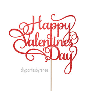 Cake Topper - Generic - 20+ Colours - NEXT DAY POST - Happy Valentines Day