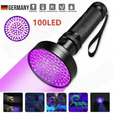 UV Lampe 100 LED Taschenlampe 395nm Scorpion Bernstein Schwarzlicht Handlampe DE