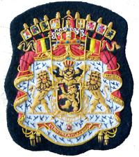 Belgium Royal Kingdom Lion Crown Order Crest Blazer Patch Seal Saxe Coburg Gotha
