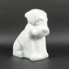 POOCHE the Dog WHITE Degenhart Glass *Flaw*
