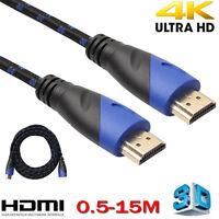 0.5-15m Trenzado macho a AV HD 3d Cable HDMI v1.4 for ps3 xbox HDTV 1080p DF
