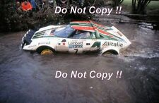 Sandro Munari Alitalia Lancia Stratos HF Rally Rac 1975 fotografía