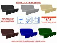 Replacement swing cushion cover suitable for B&Q Colorado Garden swing 150cm