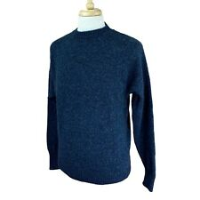 Pendleton Men's Washable Wool Pullover Crewneck Navy Blue Sweater Large