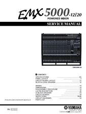 Yamaha EMX5000 Mixer Service Manual and Repair Guide