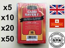 More details for new cardboard gold card savers i psa submission plastic semi rigids 1 5 10 20 50